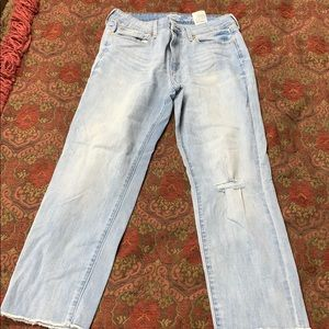 Levi's high rise ankle straight 12 jeans